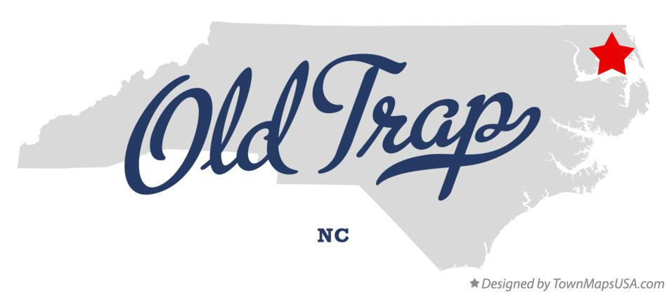 Map of Old Trap North Carolina NC