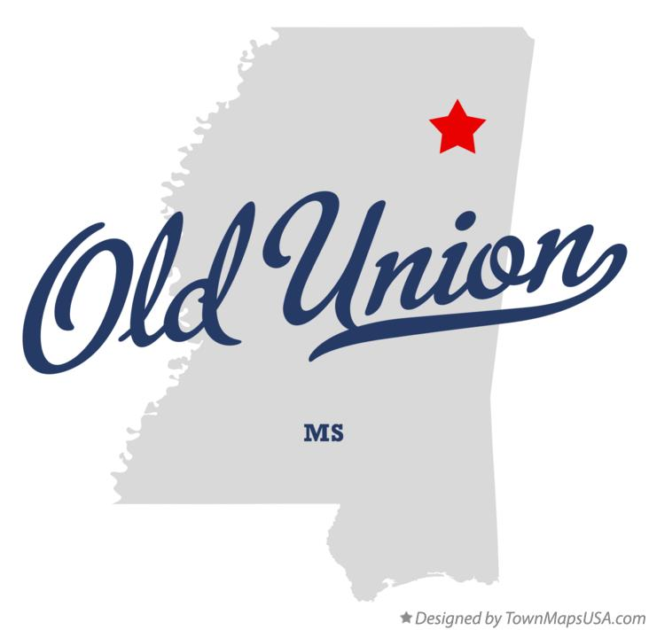 Map of Old Union Mississippi MS