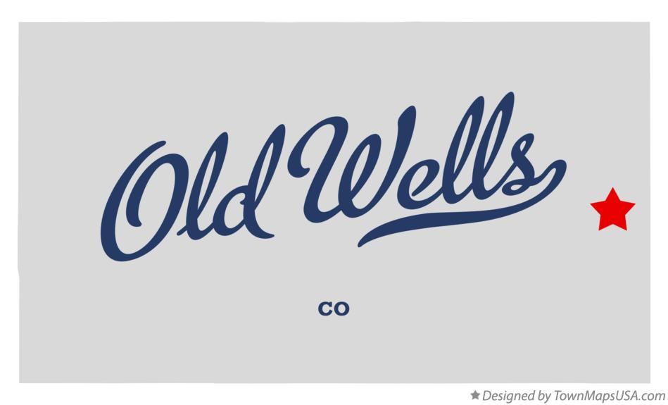 Map of Old Wells Colorado CO