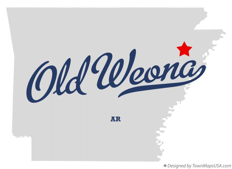 Map of Old Weona Arkansas AR