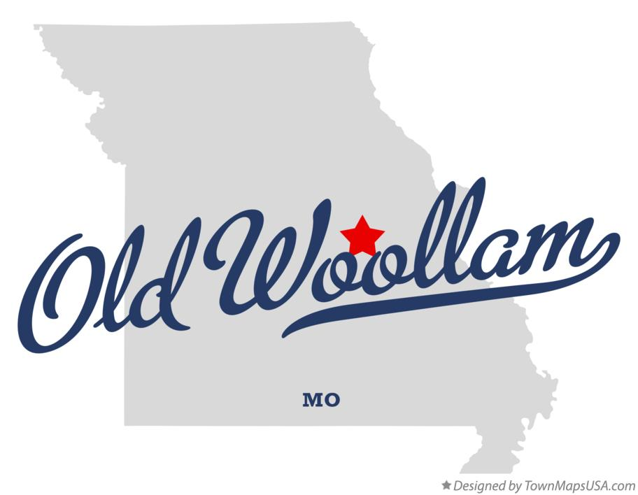 Map of Old Woollam Missouri MO