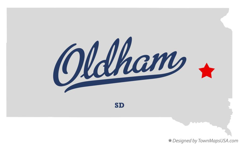 Map of Oldham South Dakota SD