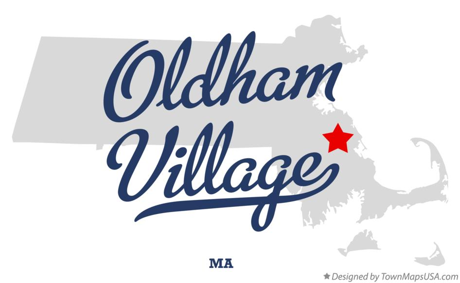 Map of Oldham Village Massachusetts MA
