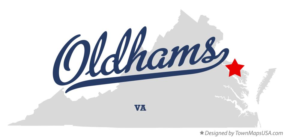 Map of Oldhams Virginia VA