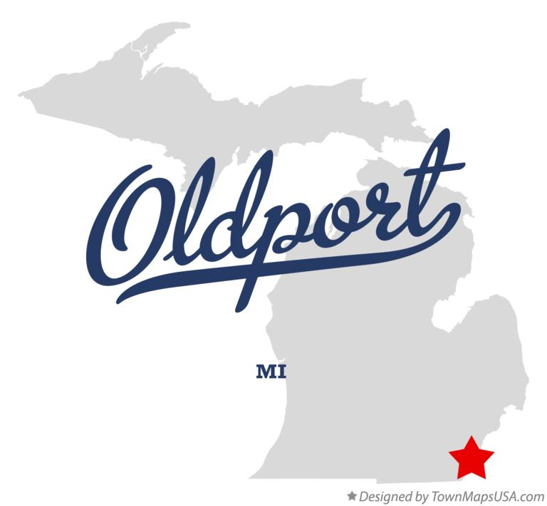 Map of Oldport Michigan MI