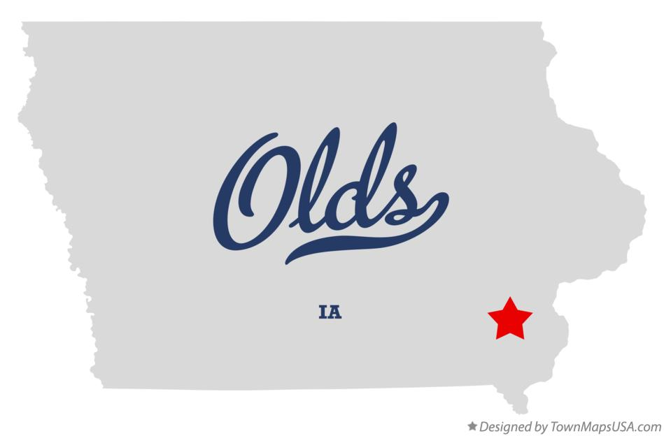 Map of Olds Iowa IA