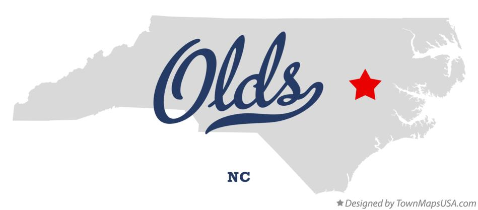 Map of Olds North Carolina NC