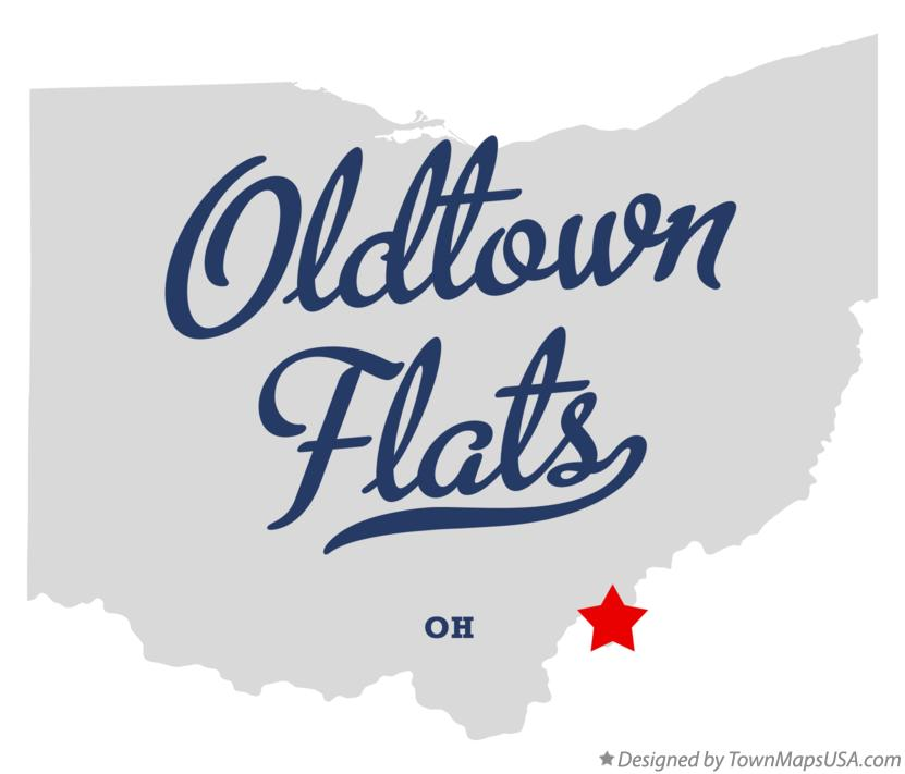 Map of Oldtown Flats Ohio OH