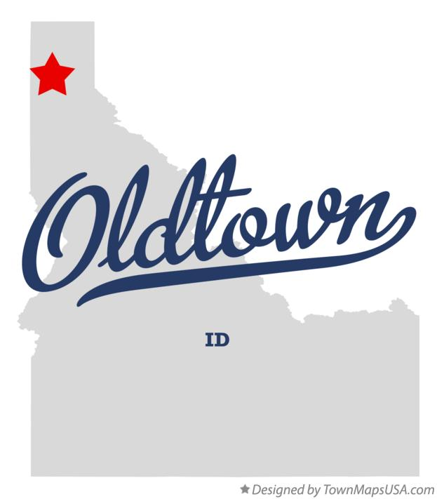 Map Of Oldtown Id Idaho