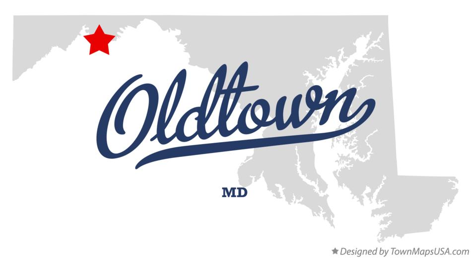 Map of Oldtown Maryland MD