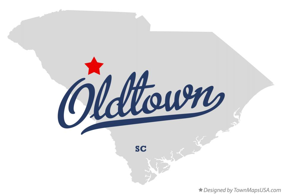 Map of Oldtown South Carolina SC