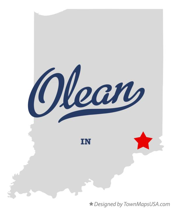 Map of Olean Indiana IN