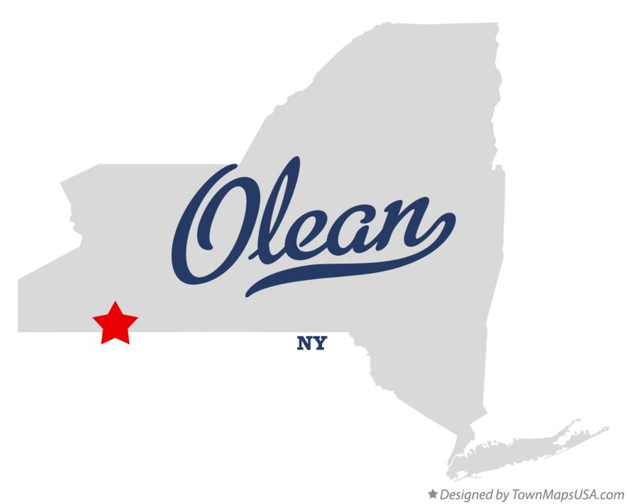 Map of Olean New York NY