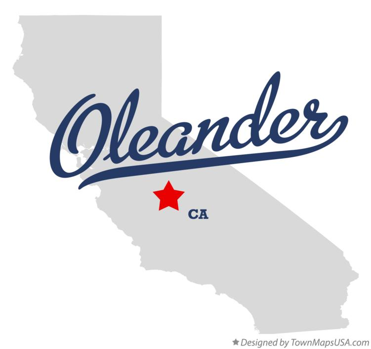 Map of Oleander California CA