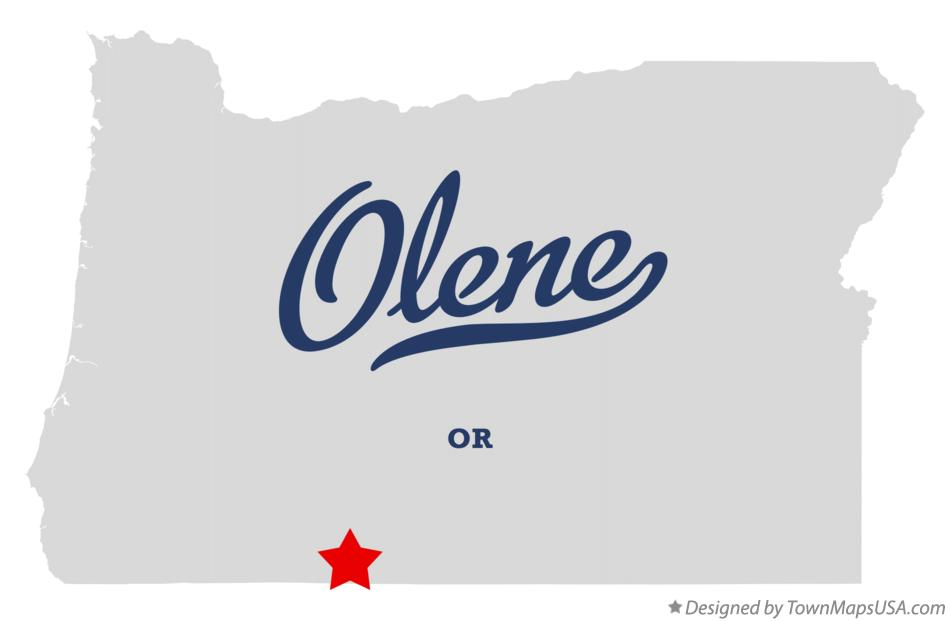 Map of Olene Oregon OR
