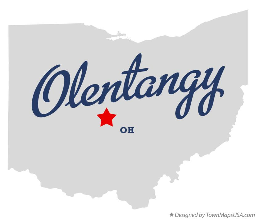 Map of Olentangy Ohio OH