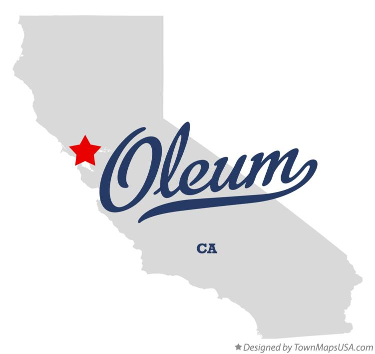 Map of Oleum California CA