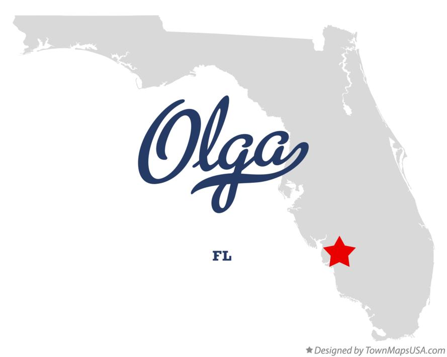 Map of Olga Florida FL