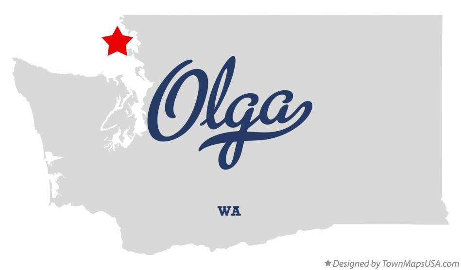 Map of Olga Washington WA