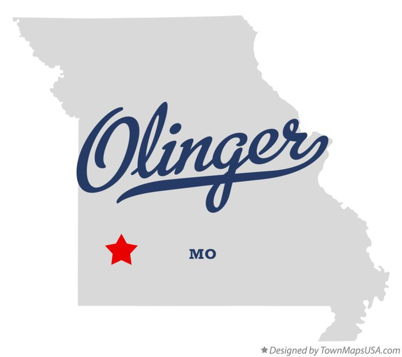 Map of Olinger Missouri MO