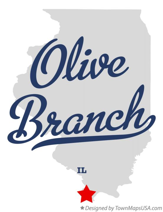 Map of Olive Branch Illinois IL