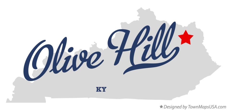 Map of Olive Hill Kentucky KY
