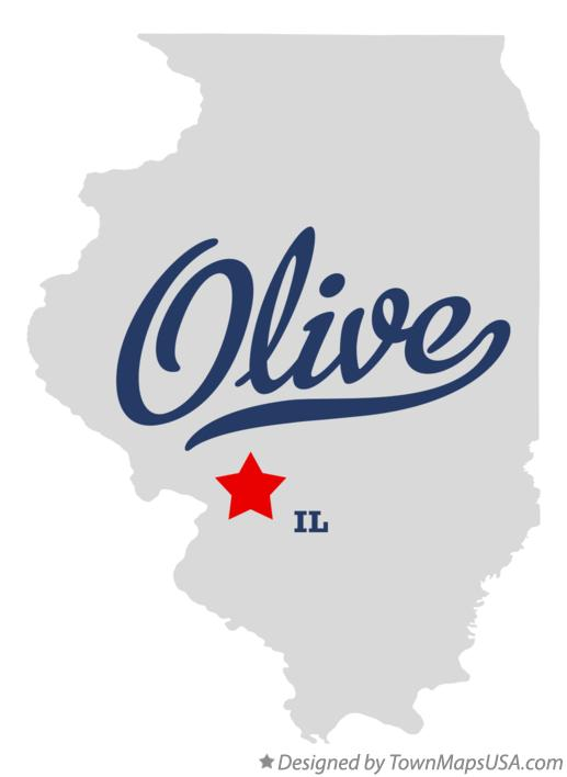 Map of Olive Illinois IL