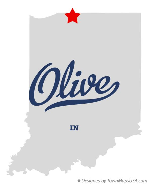 Map of Olive Indiana IN