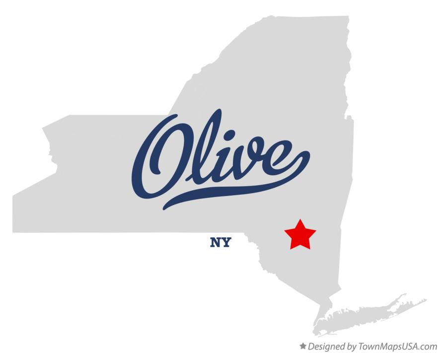 Map of Olive New York NY