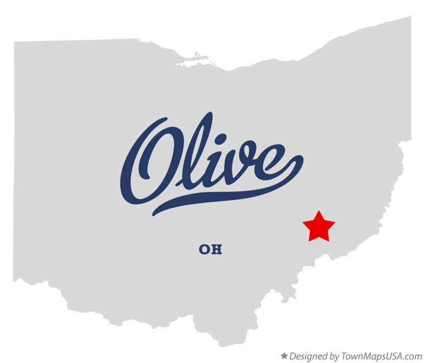 Map of Olive Ohio OH