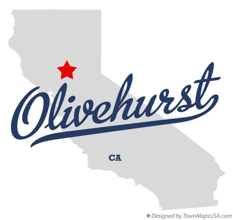 Map of Olivehurst California CA
