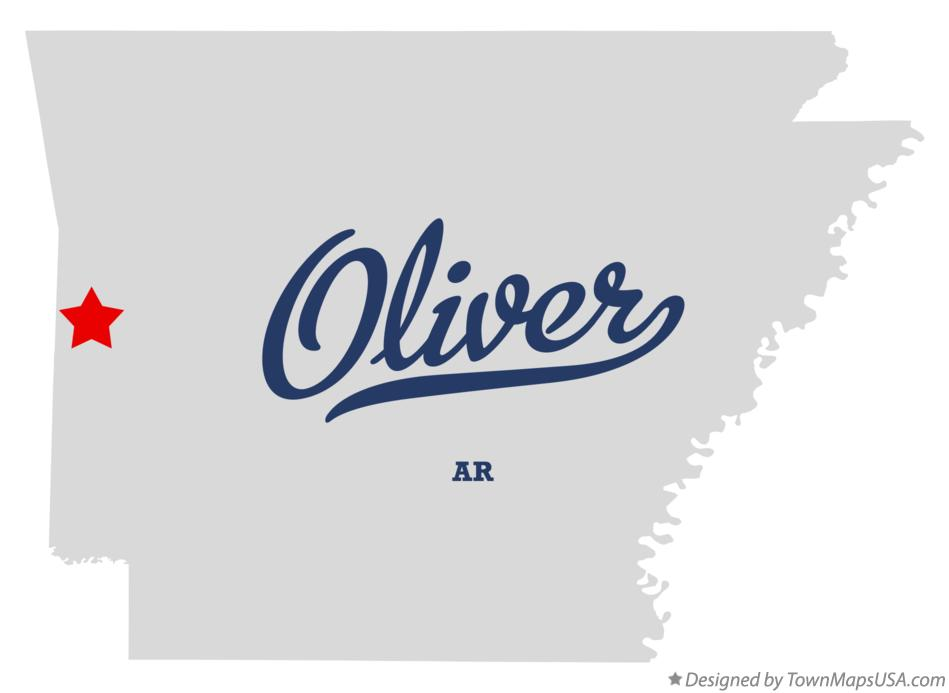 Map of Oliver Arkansas AR