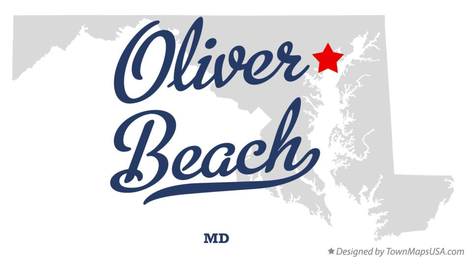 Map of Oliver Beach Maryland MD
