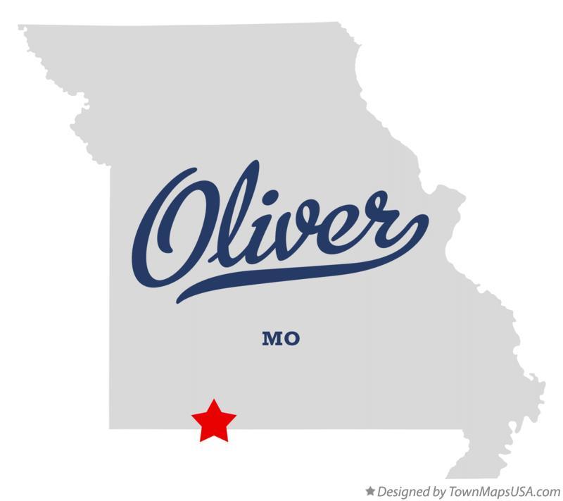 Map of Oliver Missouri MO