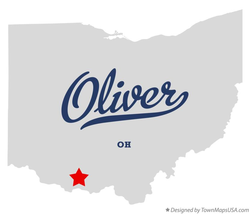 Map of Oliver Ohio OH