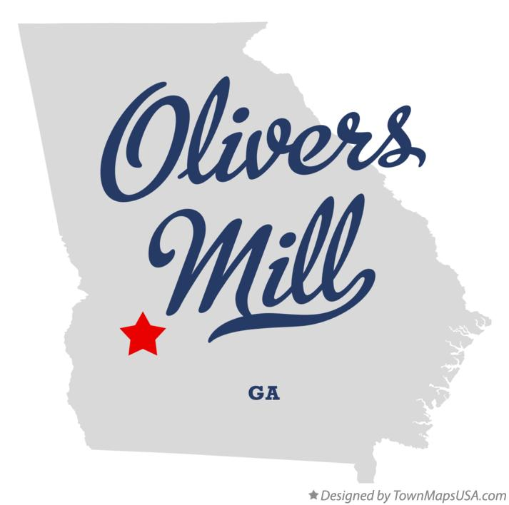 Map of Olivers Mill Georgia GA