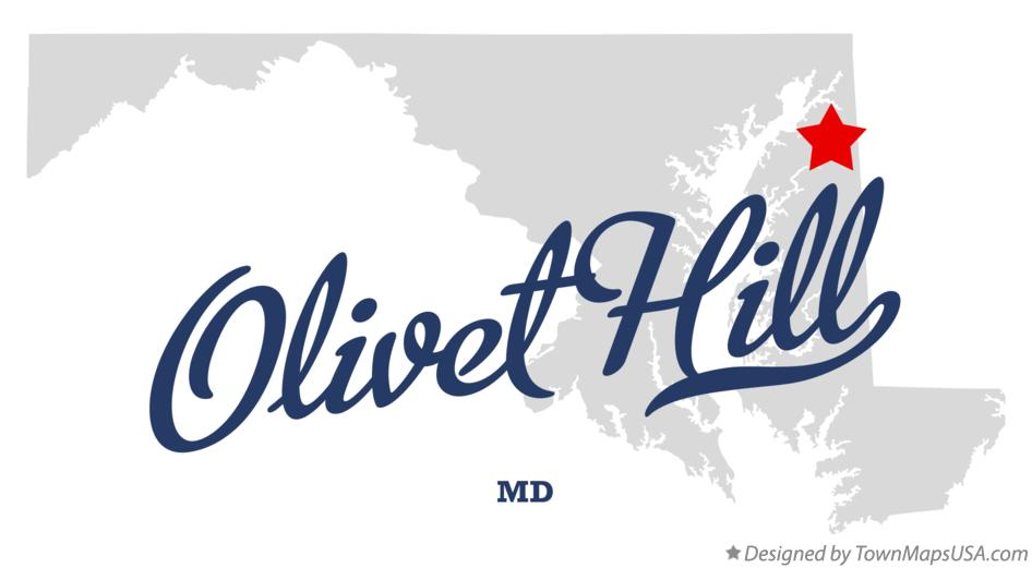 Map of Olivet Hill Maryland MD
