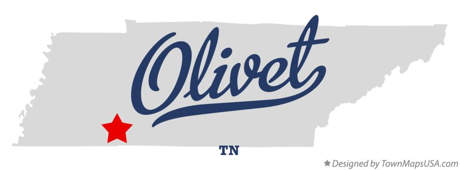 Map of Olivet Tennessee TN