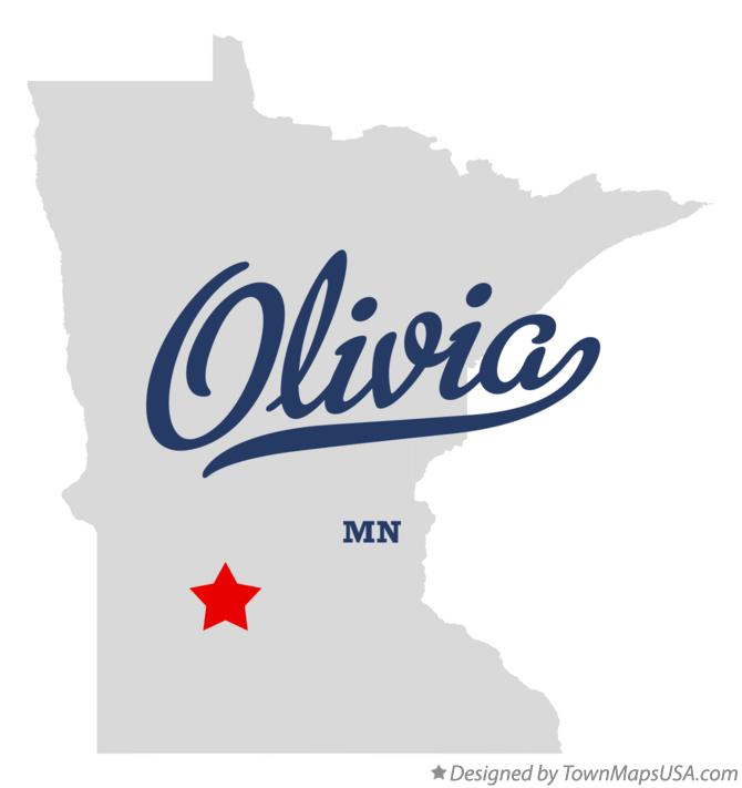 Map of Olivia Minnesota MN