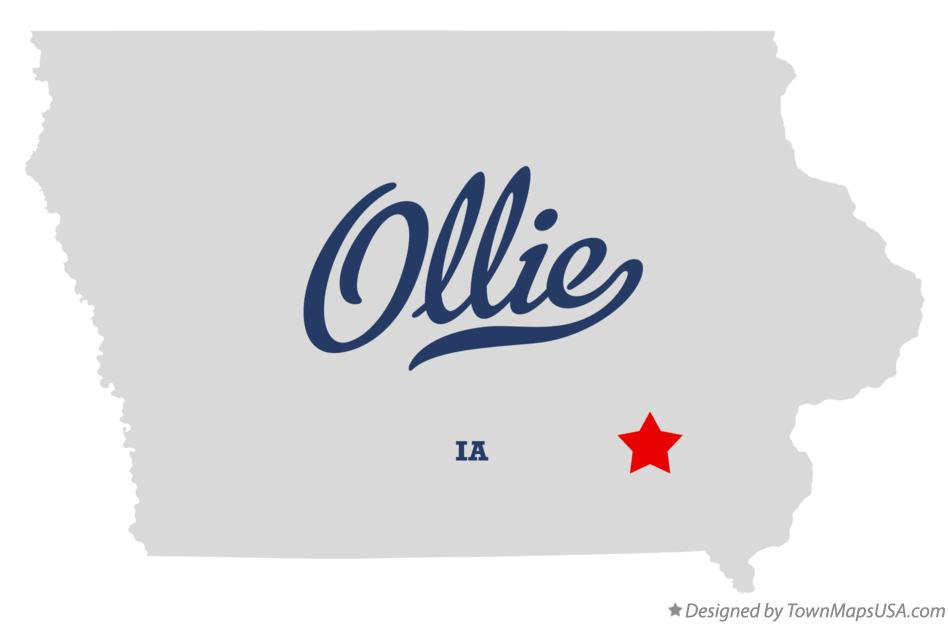 Map of Ollie Iowa IA