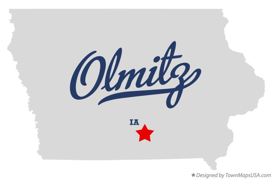 Map of Olmitz Iowa IA