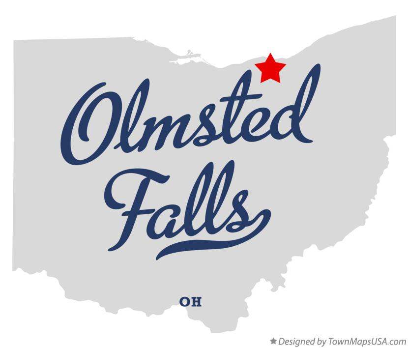 Map of Olmsted Falls Ohio OH