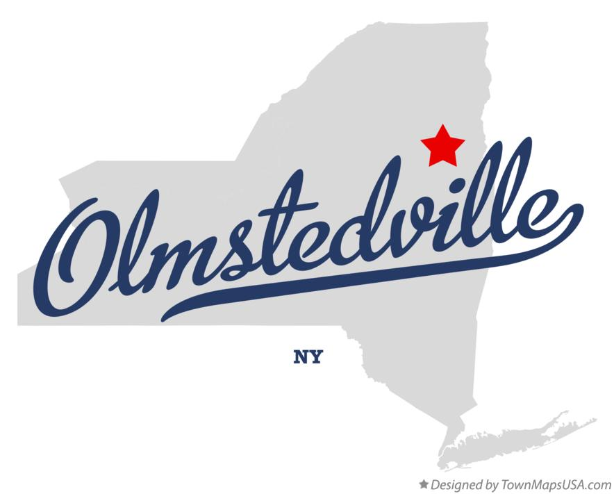 Map of Olmstedville New York NY