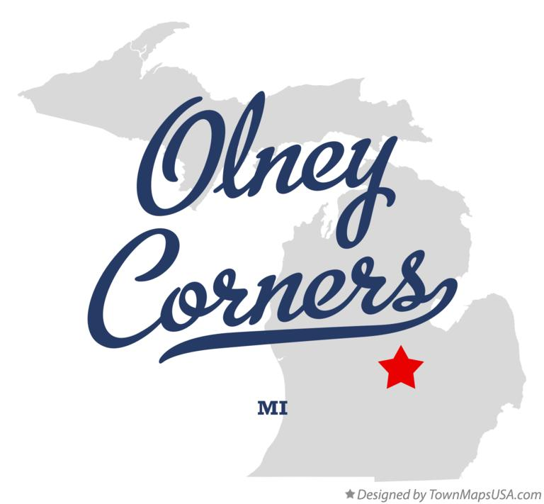 Map of Olney Corners Michigan MI