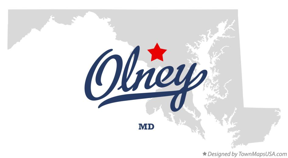 Map of Olney Maryland MD
