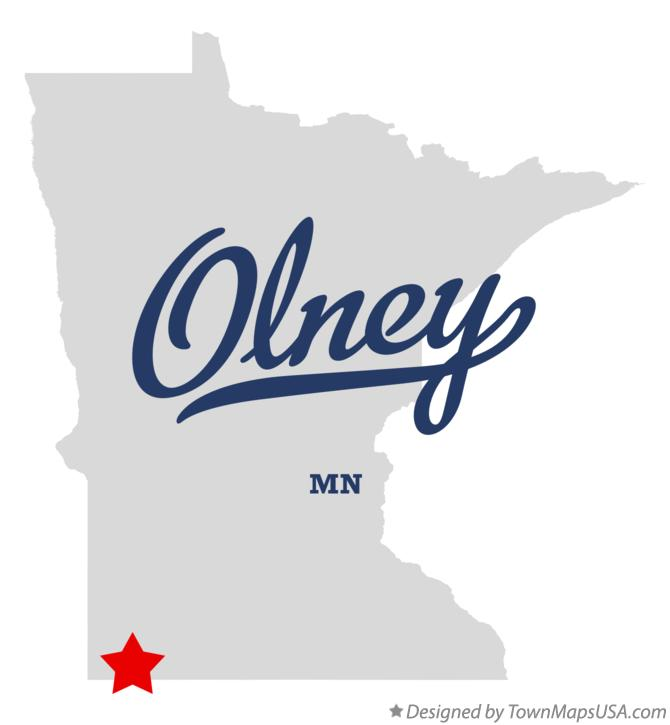 Map of Olney Minnesota MN