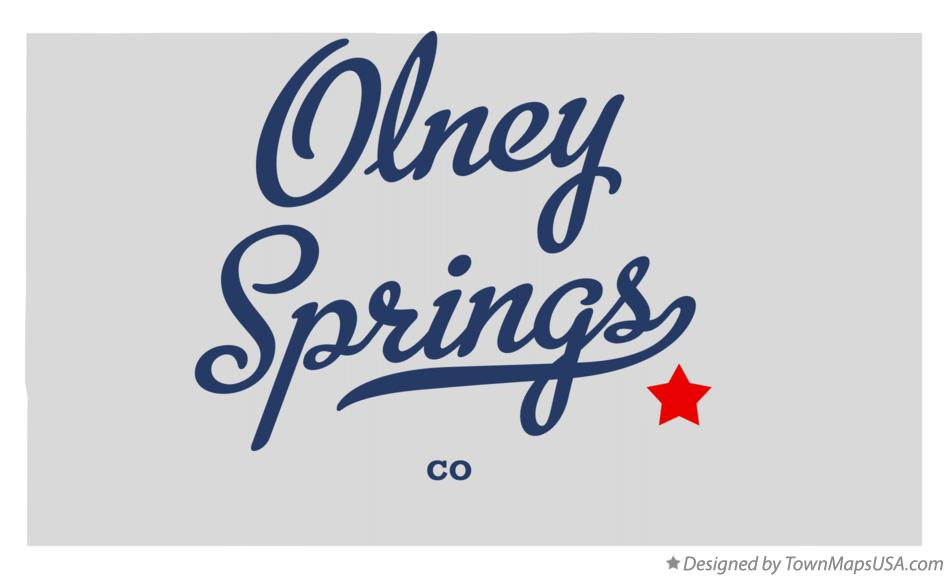 Map of Olney Springs Colorado CO