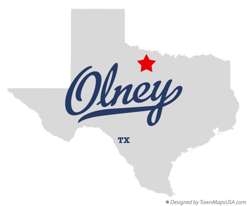 Map of Olney Texas TX