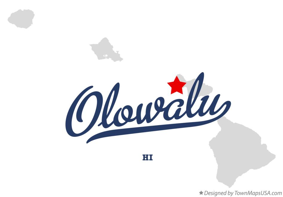 Map of Olowalu Hawaii HI