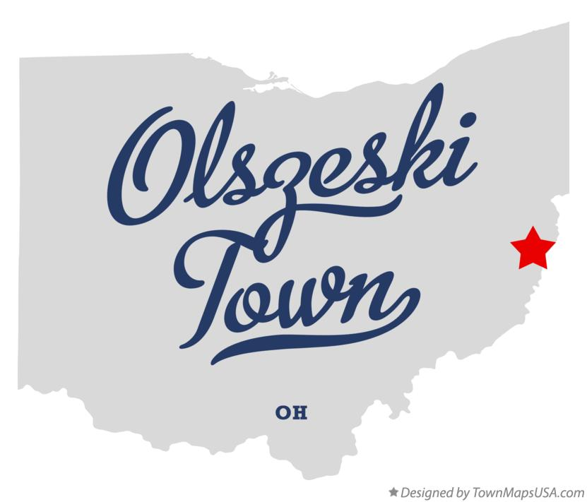 Map of Olszeski Town Ohio OH